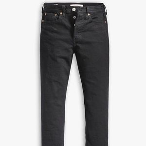 Levi's Black Wedgie Fit Cropped Jeans